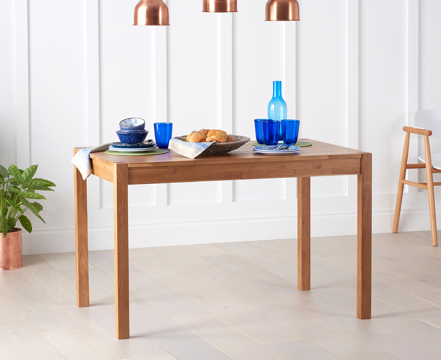 Oxford 120cm Oak Dining Table