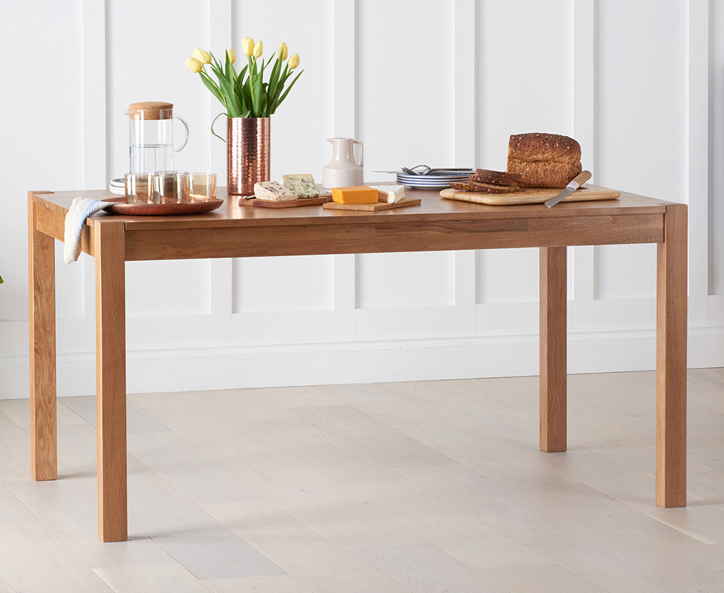 Oxford 150cm Solid Oak Dining Table