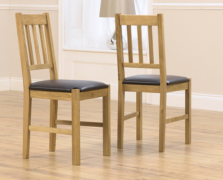 Product photograph showing Oxford Brown Dining Chairs Pairs