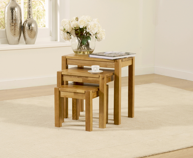 An image of Oxford Oak Nest of Tables