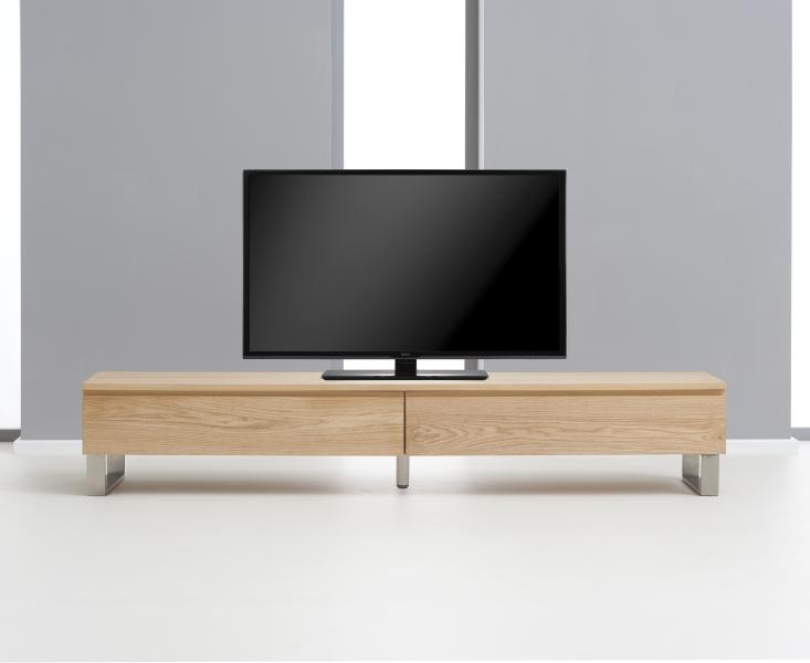 Peninsula 180cm Oak and Chrome TV Unit