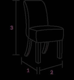Jasper Cream Fabric Chairs Dimensions