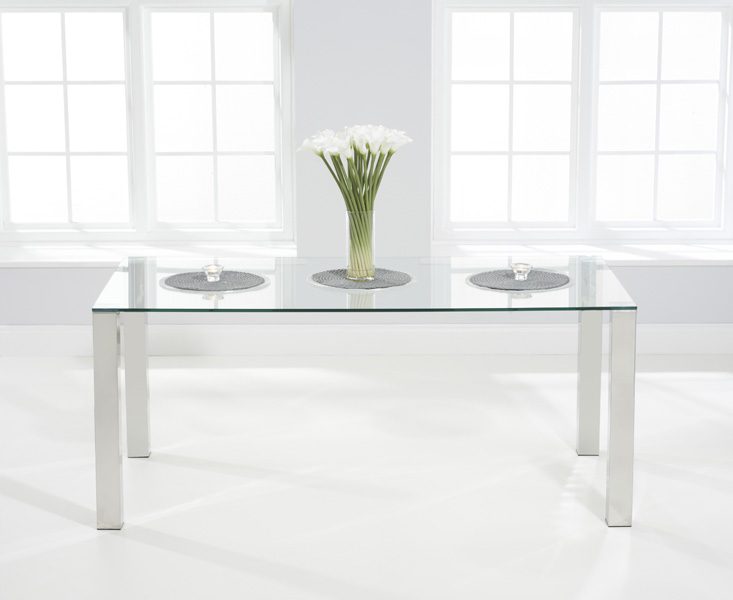 Sophie 180cm Glass Dining Table