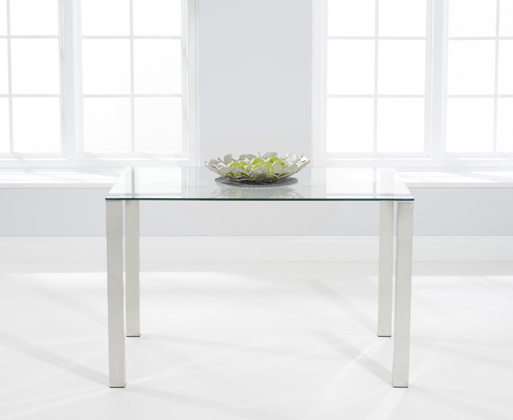 Sophie 120cm Glass Dining Table