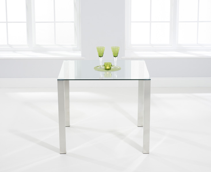 Sophie 90cm Glass Dining Table