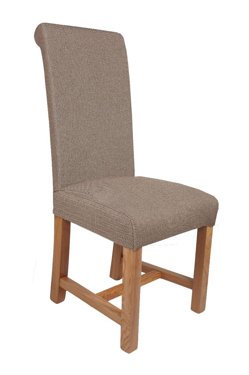 Winslow Herringbone Brown Fabric Dining Chairs