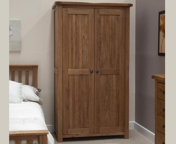 Rustic Oak Double Wardrobe