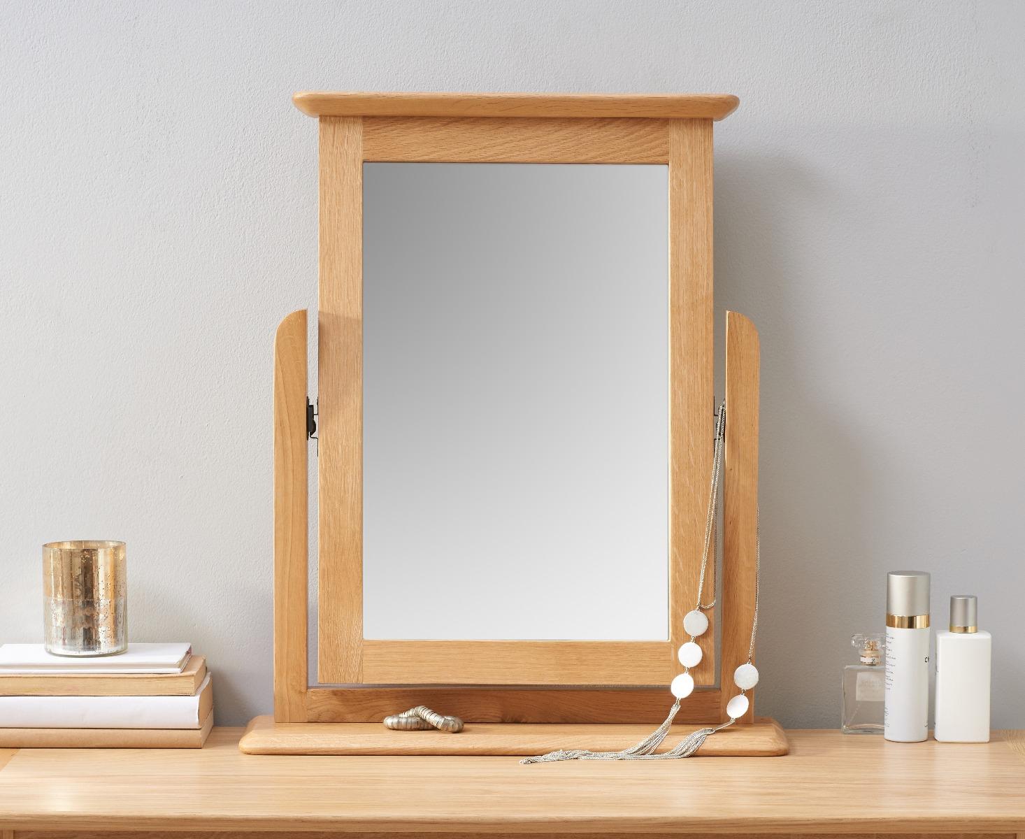 An image of Suri Oak Trinket Mirror