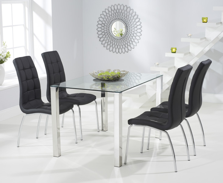 Sophie 120cm Glass Dining Table with Calgary Chairs