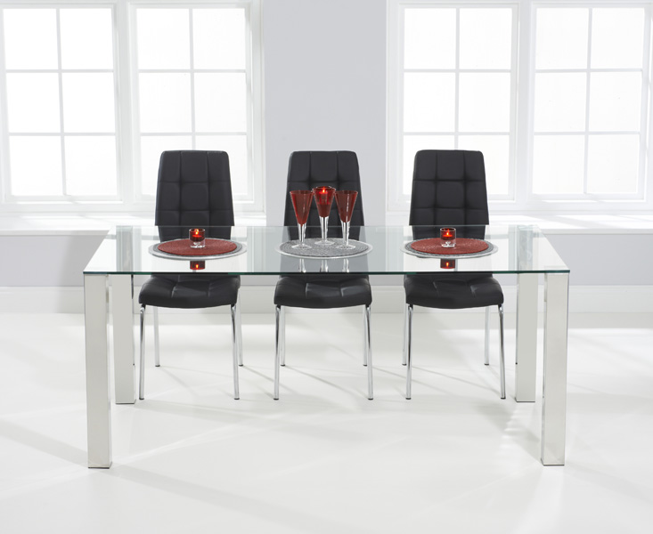 Sophie 180cm Glass Dining Table with Calgary Chairs