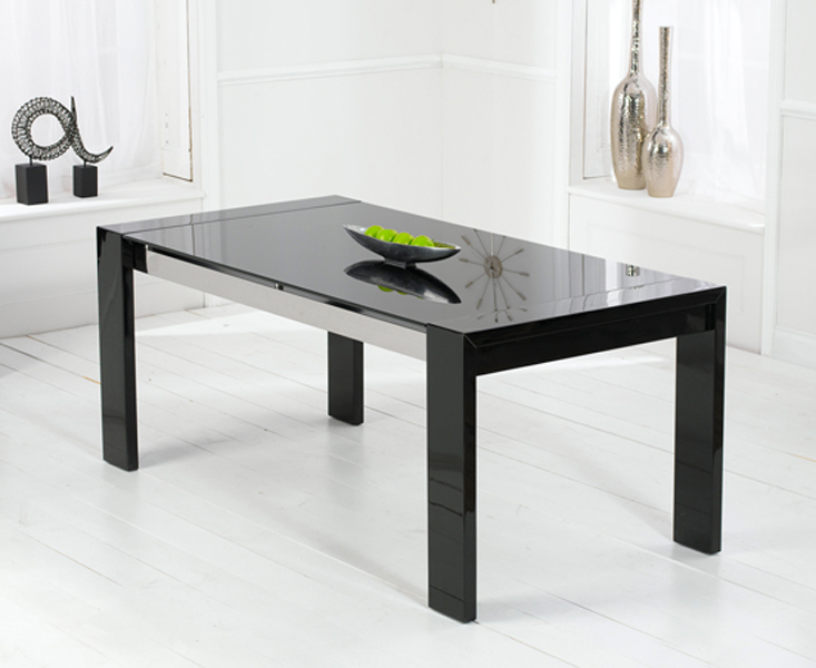 Cannes 180cm High Gloss Black Dining Table