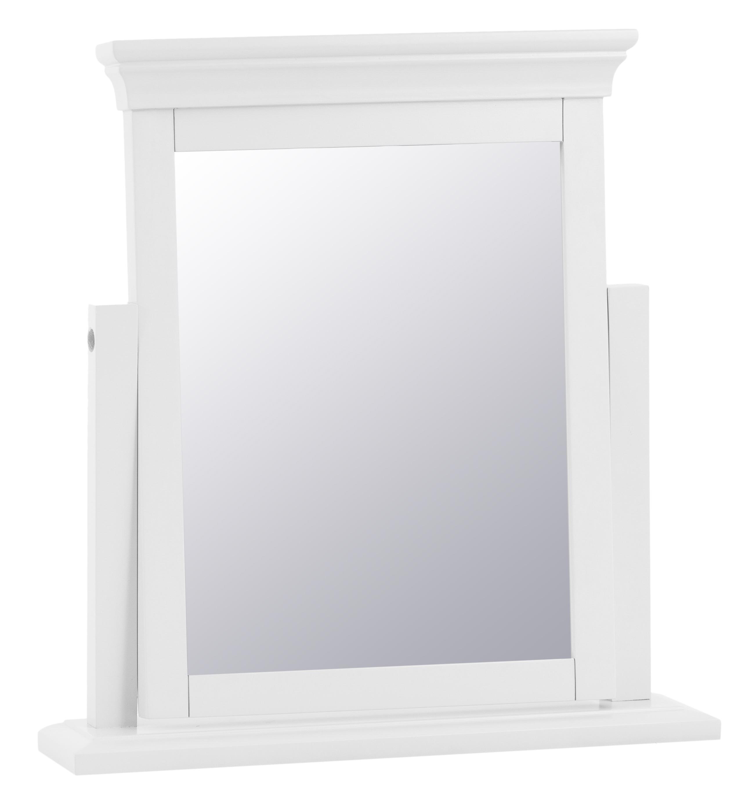 An image of Budapest White Trinket Mirror