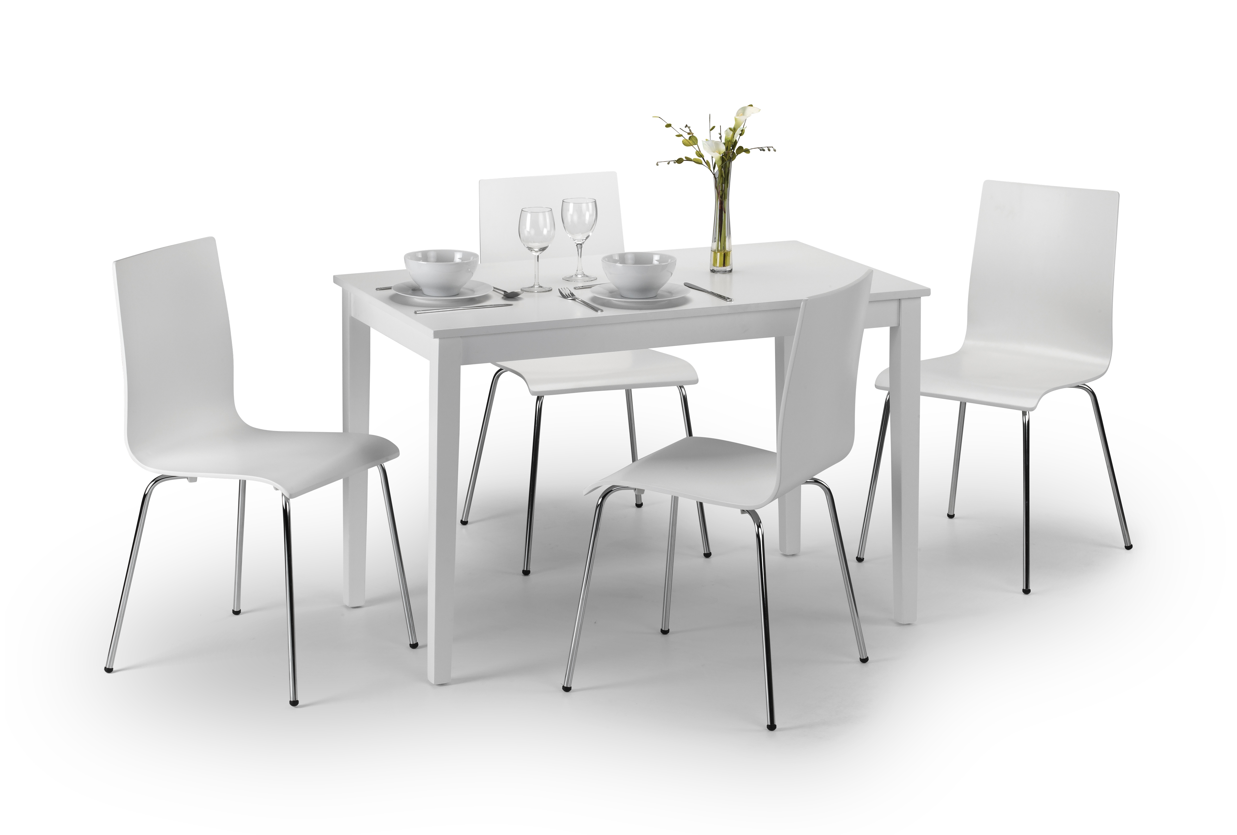 Taku Dining Set with 4 Chairs