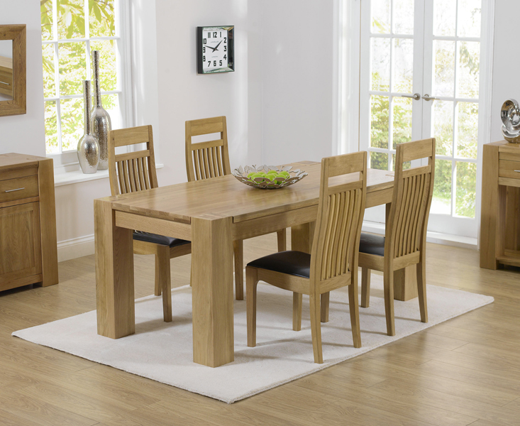 Thames 150cm Oak Dining Table with Monaco Chairs