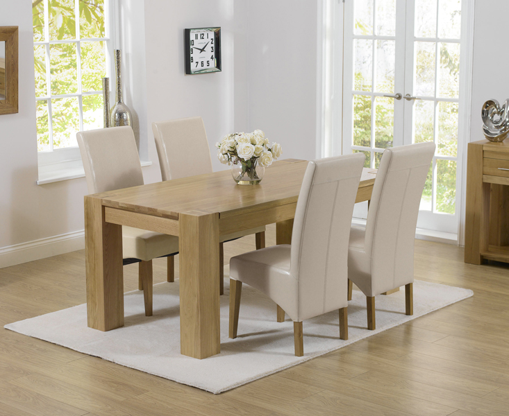 Thames 150cm Oak Dining Table with Cannes Chairs