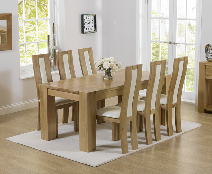 Thames 180cm Oak Dining Table with Toronto Chairs
