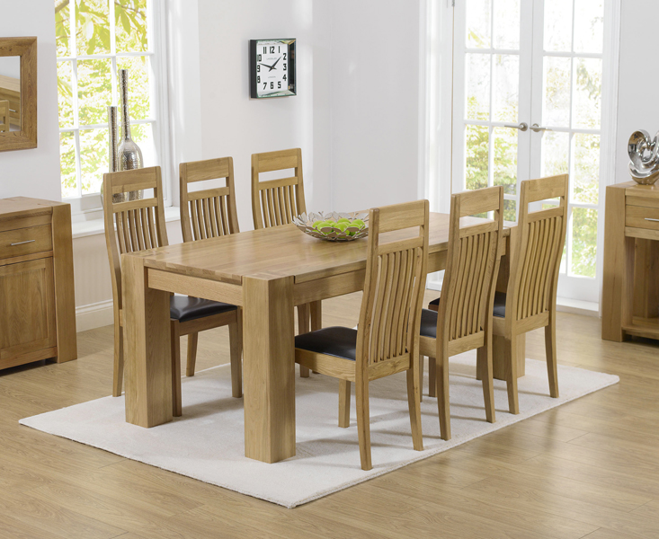 Thames 180cm Oak Dining Table with Monaco Chairs