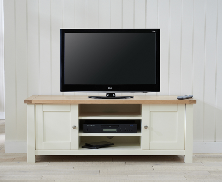 Somerset Oak and Cream TV Unit