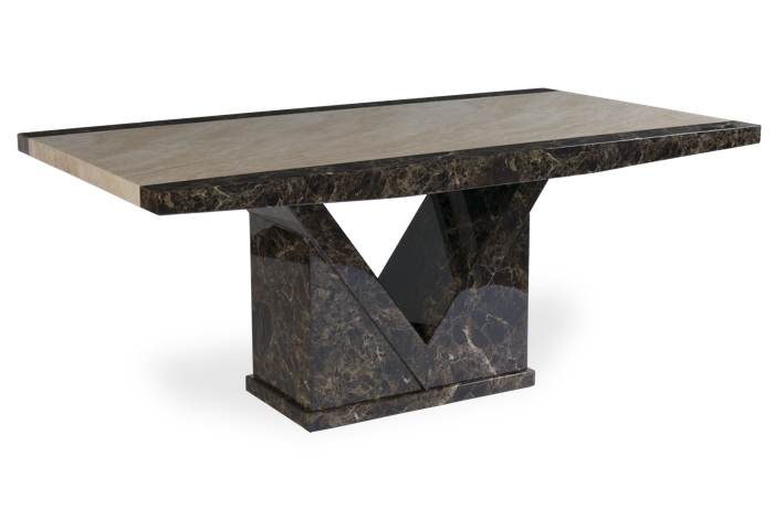 Tamarro 160cm Marble Effect Dining Table