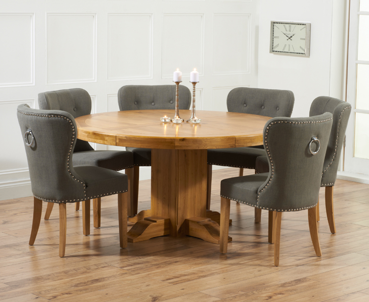 Round oak dining table shop for cheap furniture and save for 1 oak nyc table prices