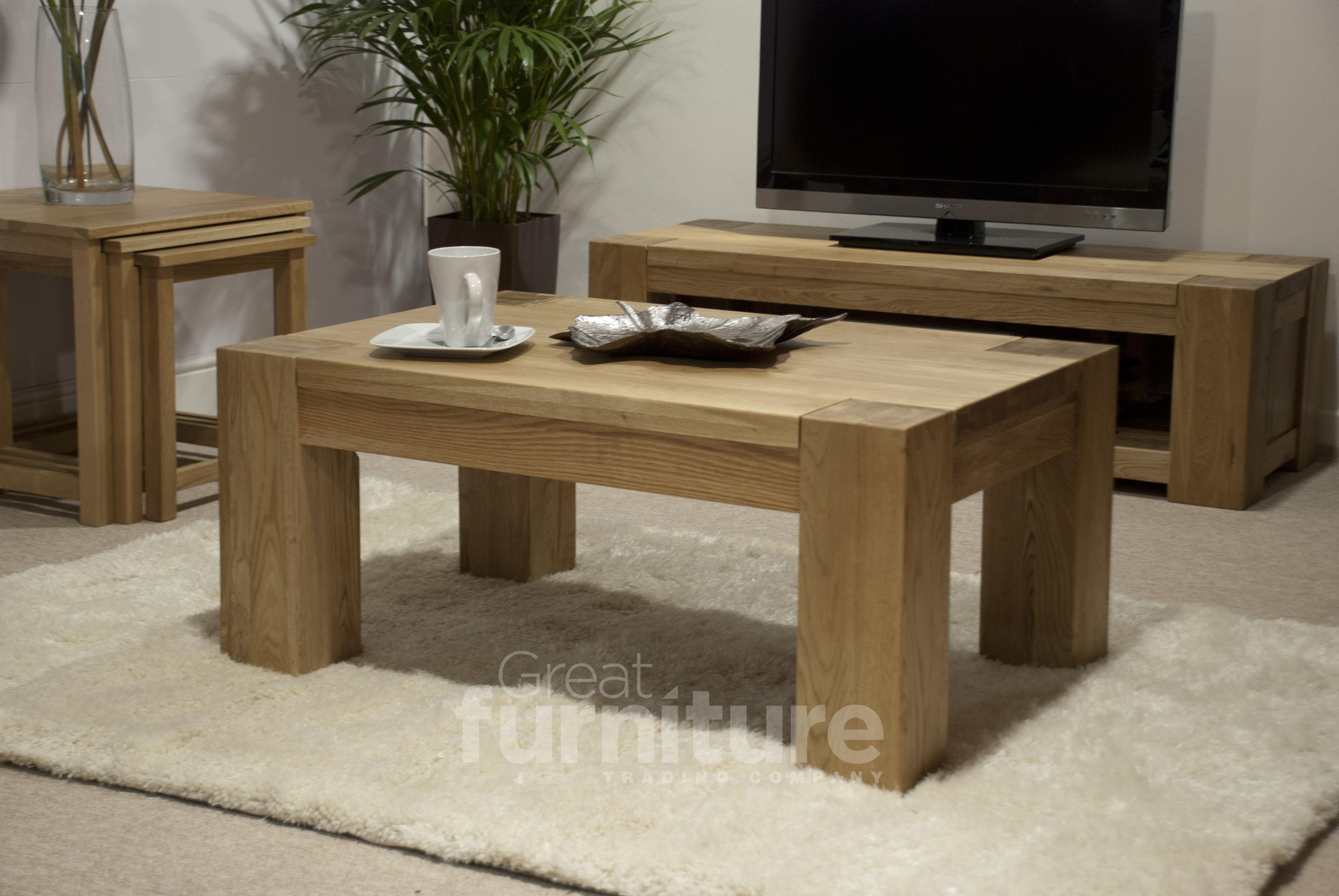 Trend Oak 90cm Coffee Table