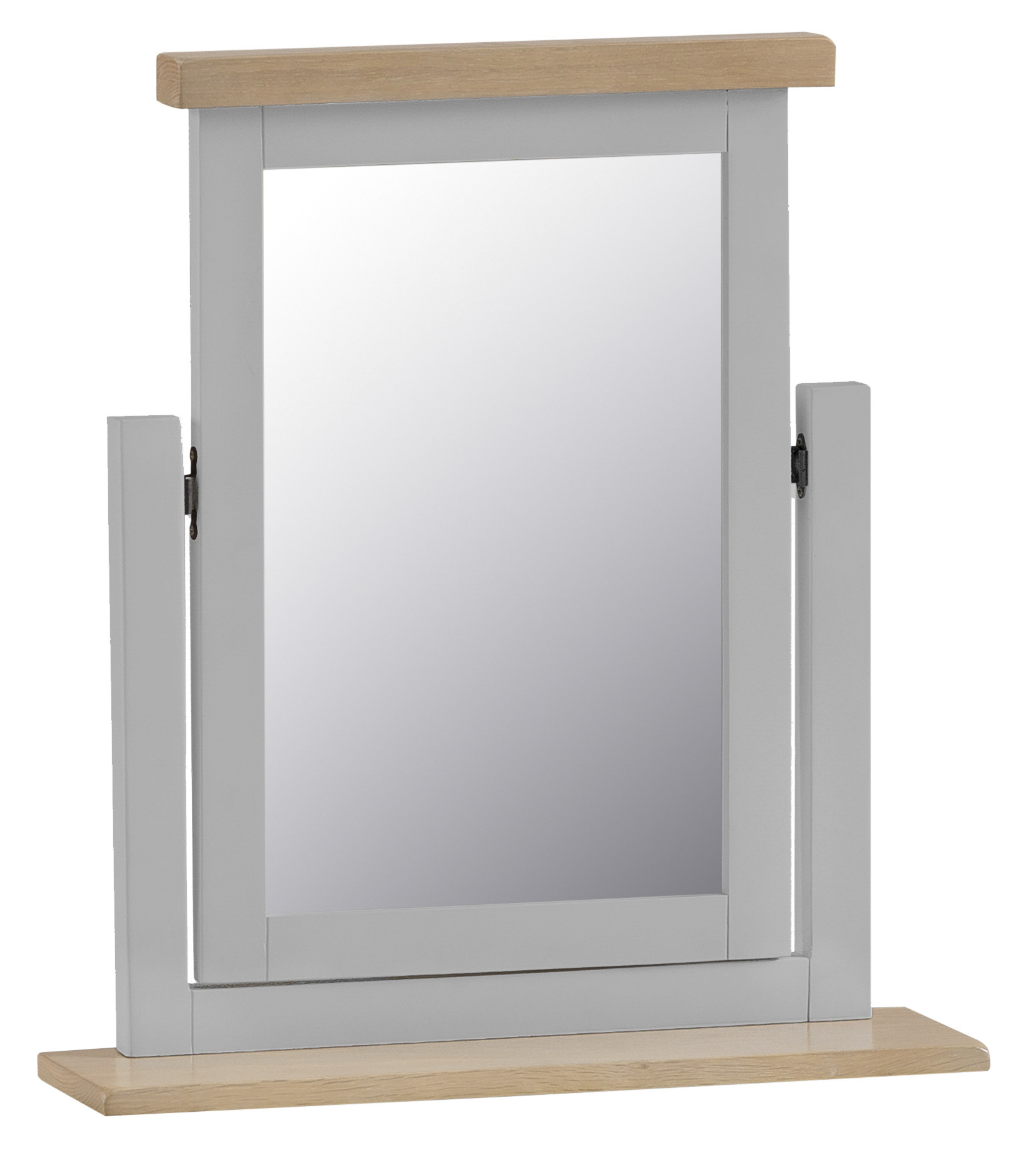 An image of William Oak and Grey Trinket Mirror
