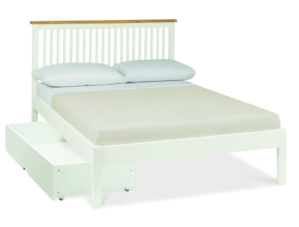 Atlanta Two Tone Low Footend Double Bed with Optional Storage