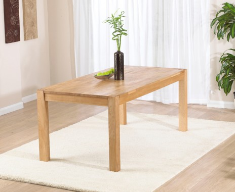Verona 180cm Solid Oak Extending Dining Table