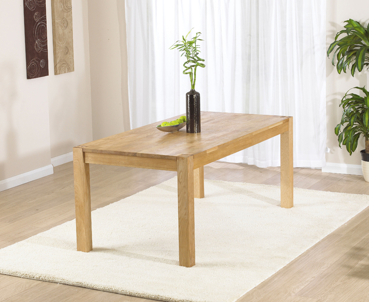 An image of Verona 120cm Oak Dining Table