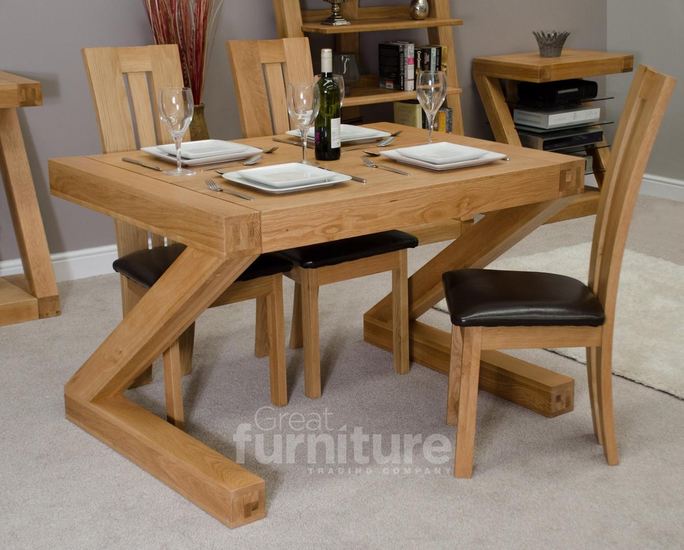 Z Solid Oak 120cm Dining Table