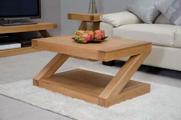 Z Solid Oak 90cm Coffee Table