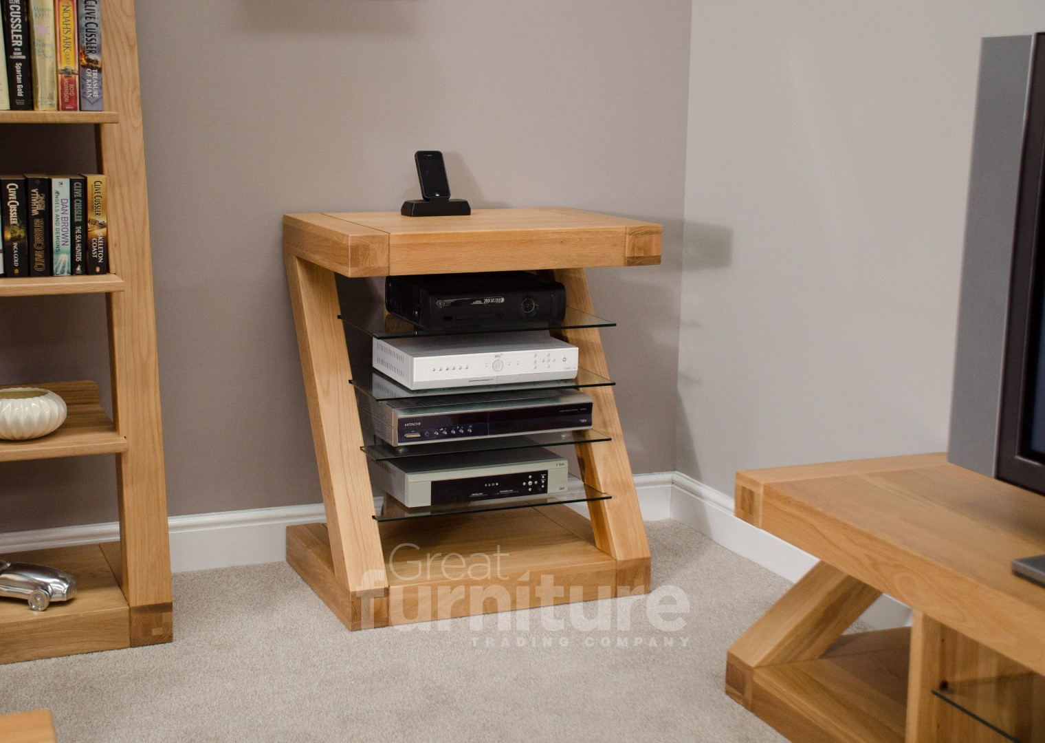Z Solid Oak HiFi Unit